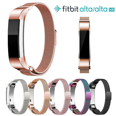 Magnetic Milanese Stainless Steel Watch Band Strap for Fitbit Alta/Alta HR Gar F