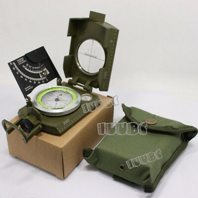 US Army Military Lensatic Compass Model Cammenga Olive Drab Camping Hiking NEW