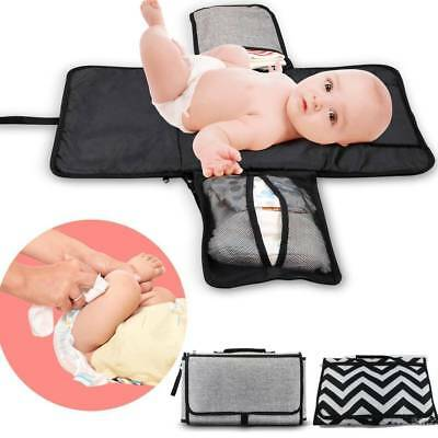 HOT Baby Nappy Diaper Bag Changing Change Clutch Mat Foldable Pad Handbag Wallet