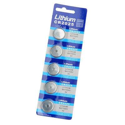 5pcs CR2025 3V Button Cells Batteries Pack for Watch Remote Calculator Camera