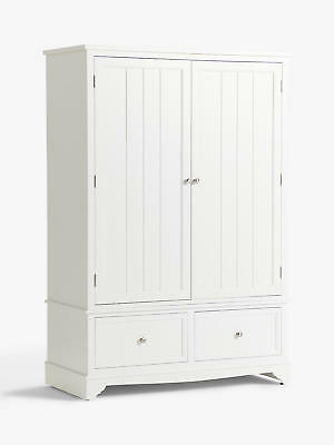 John Lewis & Partners St Ives 2 Door, 2 Drawer Wardrobe - WHITE