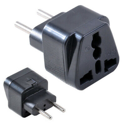 Universal UK/US/EU/AU to EU Plug Brasil Israel Europe Travel Power Adapter