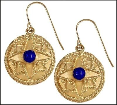 Spring Sale - Roman Historic Reproduction of Domed Earrings, From Museum Store