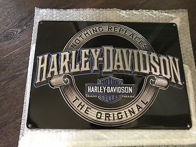 Ande Rooney Harley Davidson Nothing Replaces Original Tin Sign New Free Shipping