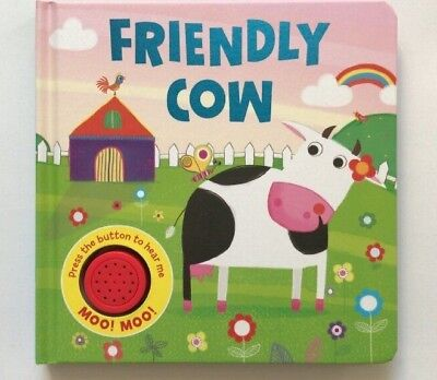 Friendly Cow Single Sound Books For Children Ages 0 Months+ New Christmas Gift