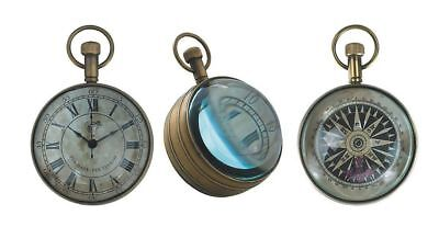 G513: Maritime Glass Ball Clock, Lupenuhr, Nostalgia Pocket Watch in Sphere,