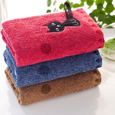 Cotton Bath Towels Soft Cat Travel Beach Swimming Gym Thick Hand Towel Bathroom
