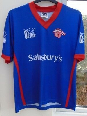 Wakefield Wildcats Isc Oz Kit Rugby League Shirt Jersey Top Large Adult