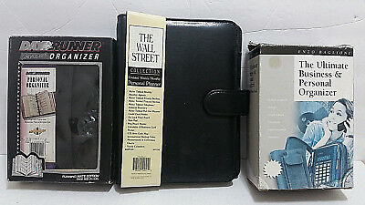 Lot of 3 NOS Planners Organizers Day Runner Mate Wall Street & Enzo Baglioni New
