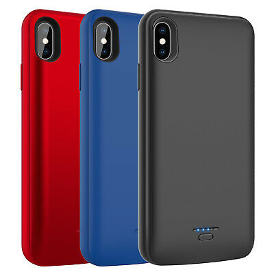 For iPhone XS Max/XR/X External Battery Charger Case Power Bank Charging Backup