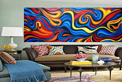 "Art Modern Painting 106"" Huge Urban original  Abstract Canvas  COA By Jane"