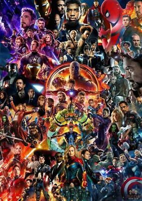 22 Marvel Cinematic Universe COLLAGE Poster Avengers End Game Movie HQ Art Print