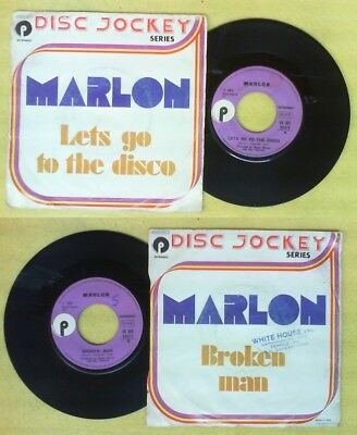 "LP 45"" MARLON Lets go to the disco Broken man 1974 italy PURPLE no cd mc dvd"