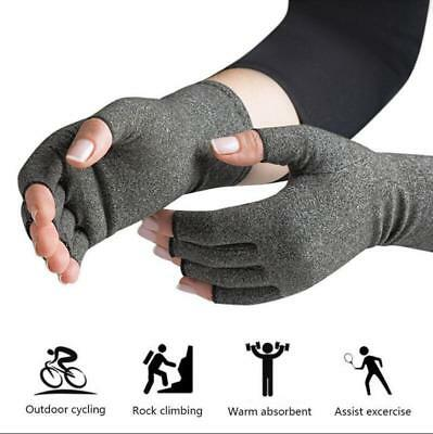 2x Fitness Anti Arthritis Gloves Compression Support Hands Pain Relief Therapy