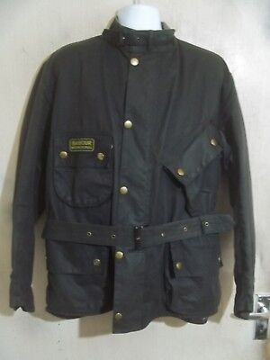 Barbour A7 International Suit Waxed Motorcycle Jacket Size C50 127Cm