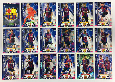 2018 2019 Topps Match Attax Champions League TEAM BASE set of 18 cards