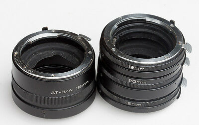 Vivitar Automatic Extension Tubes for Nikon F, 12mm,12mm, 20mm,