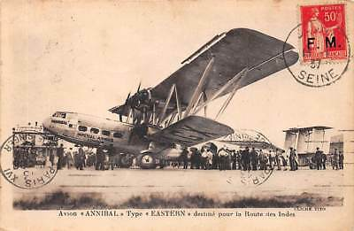aviation  . n° 50254 . avion annibal type eastern route des indes