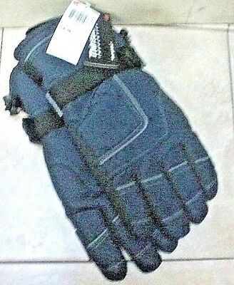 Mens 3M Thinsulate 40 Gram Insulation Cold Weather Gloves Winter Warm Navy Bl/Bk