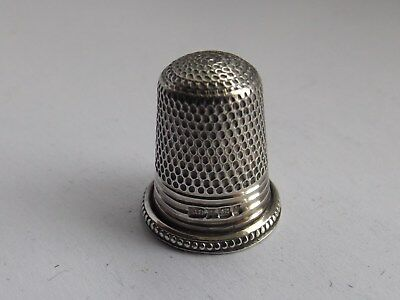 Tiny Childs Solid Silver Thimble Swann Birmingham 1987 Great Condition