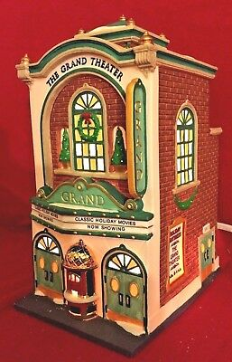 The Grand Movie Theater Dept 56 Christmas in the City Village 58870 Snow A