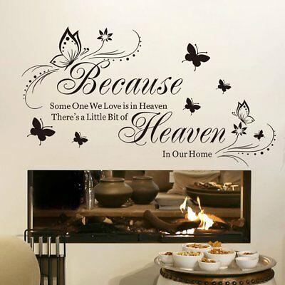 Because Someone We Love Is In Heavening Home Decor Quotes Wall Stickers hpy