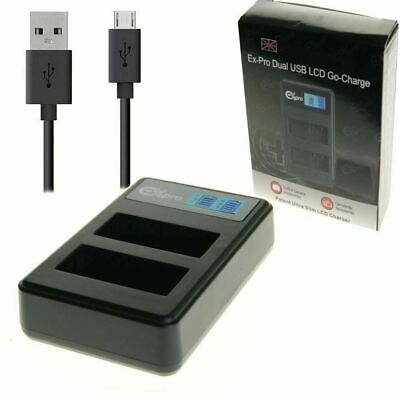Ex-Pro EN-EL14 MH24 LCD DUAL Go-Charge USB Charger for Nikon DSLR P7700 P7800