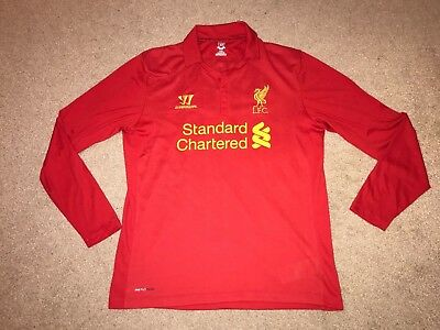 270645b45 LIVERPOOL 2013 14 LONG Sleeve Home Shirt Fowler - £0.99