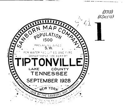 Tiptonville, Tennessee~Sanborn Map© sheets~6 maps~with 9 maps _Lake County)