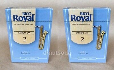 two boxes of 10 20 Rico Royal tenor saxophone #2 reeds strength 2.0 sax