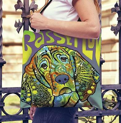 Basset Hound Series Tote Bags - Dean Russo Art