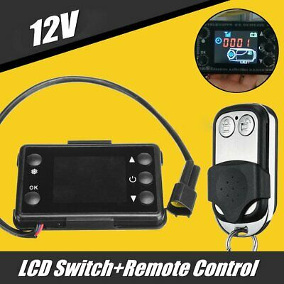 12V LCD Monitor Switch and Remote Control Truck Car Diesel Air Heater Controller