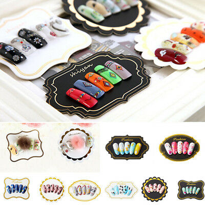 10 Nail Tips Display Board Tool Set Paper Showing Cards Manicure Nail Art Fad.FE