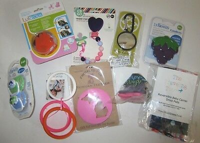 Baby Accessory Lot 9 items Dr Brown Lula Clips Lille baby Freckled Fox D Dawgs