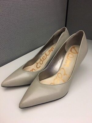 92a31904f Sam Edelman Womens Orella Gray Leather Heels Pumps Shoes (7.5)