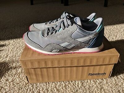 5a738d6446bb Reebok Classic Nylon Slim HV Womens Leather Sneakers Low Shoes Casual Trainers  1 ...