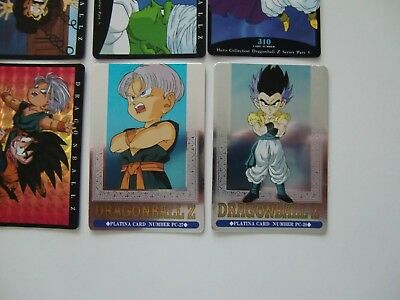 Lot de 136 cartes Dragon Ball Z Hero Collection dont 2 platina cards