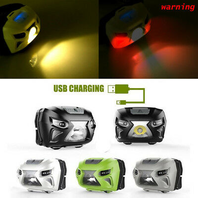 50000LM Headlight LED Motion Sensor Headlamp USB Rechargeable Head Flashlight US