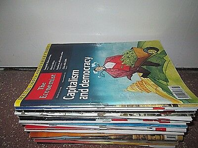 Collection of 28 The Economist Magazines 2002 - 2003 Lot
