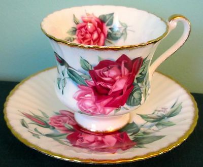 Paragon Rare Exquisite CRISTIAN DIOR Signed Red Roses Fine Bone China Cup