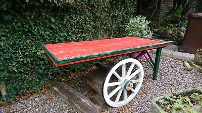 steel chasis hand cart with wooden top
