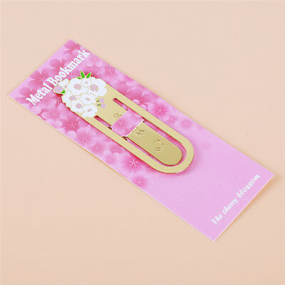 Metal Cherry Blossom Bookmark Clip Document Book Marker Label Stationery S