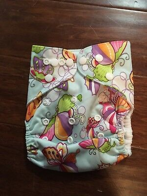 Lot of 3 random print OS Cloth Diapers - Pocket Style Girl Prints