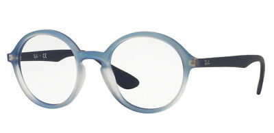 c39a45ab0e Ray-Ban Round Blue Gradient Rubber 47MM Unisex Eyeglasses RX7075 5601