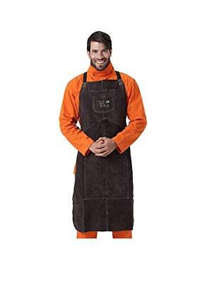 Brown Leather Welding Bib Apron with Pocket for Men/Women New!!!