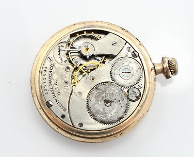 Elgin Vintage Pocket Watch 12 Size 7J As Is Parts Or Repair No Reserve #3060-7