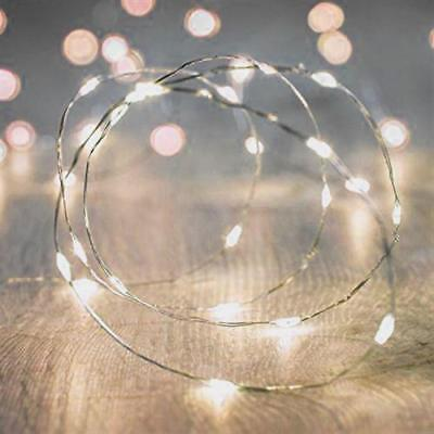 Silver Micro Dot LED Accent Fairy String/Wire Lights 41 ft Indoor