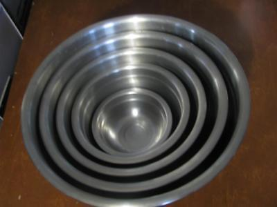 Set Of 6 Stainless Steel Nesting Mixing Bowls Made In Korea