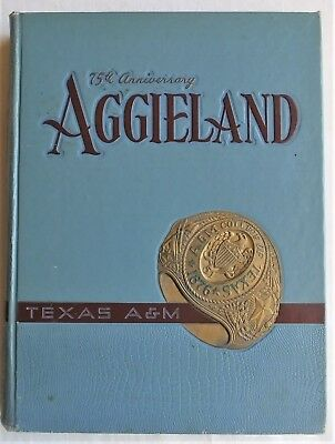 1951 TEXAS A & M COLLEGE STATION TEXAS YEARBOOK AGGIELAND 75th Anniversary