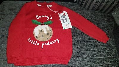 BNWT mothercare Christmas Jumper 6-9 Months